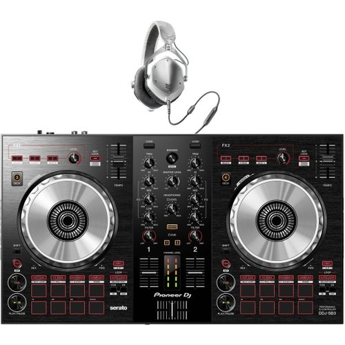 Pioneer DJ DDJ-SB3 DJ Controller with V-Moda M-100 Headphones at Gear 4 Music Image