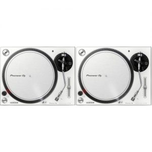 Pioneer PLX-500 Direct Drive Turntables White Pair at Gear 4 Music Image