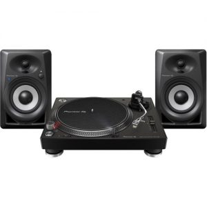 Pioneer PLX-500 Turntable with DM-40BT Monitor Speakers Black at Gear 4 Music Image