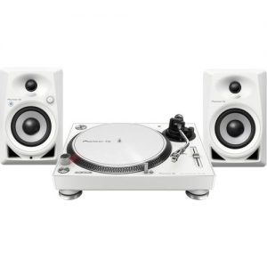 Pioneer PLX-500 Turntable with DM-40BT Monitor Speakers White at Gear 4 Music Image
