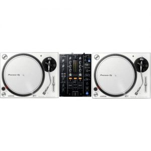 Pioneer PLX-500 White and DJM-450 Bundle at Gear 4 Music Image