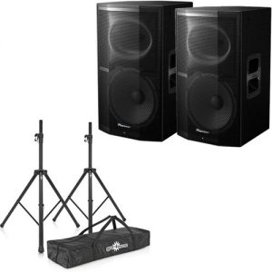 Pioneer XPRS-12 Active PA Speaker Pair With Stands at Gear 4 Music Image