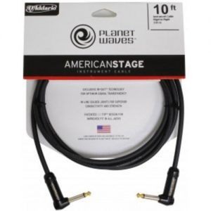 Planet Waves American Stage Instrument Cable R/Angled 10 at Gear 4 Music Image