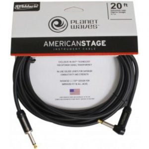 Planet Waves American Stage Instrument Cable R/Angled - Straight 20ft at Gear 4 Music Image