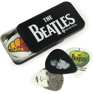 Planet Waves Beatles Signature Guitar Pick Tins Logo 15 picks at Gear 4 Music Image