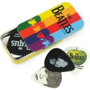 Planet Waves Beatles Signature Guitar Pick Tins Stripes at Gear 4 Music Image