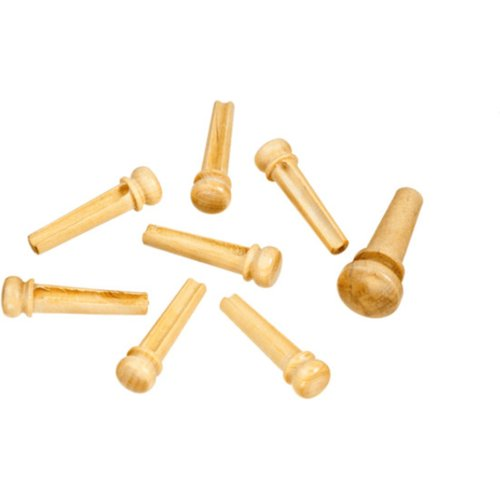 Planet Waves Boxwood Bridge Pins with End Pin Set at Gear 4 Music Image