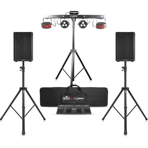 QSC CP8 Speaker Bundle with Chauvet DJ GigBAR 2 at Gear 4 Music Image