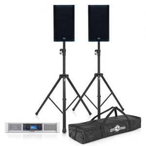 QSC E Series E110 System E110 Pair with GXD 4 Power Amp and Stands at Gear 4 Music Image