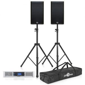 QSC E Series E112 System E112 Pair with GXD 8 Power Amp and Stands at Gear 4 Music Image