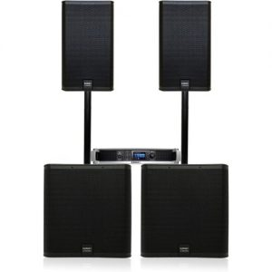 QSC E Series E112 and E118SW Complete PA System at Gear 4 Music Image
