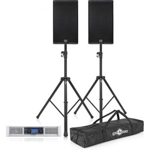 QSC E Series E115 System E115 Pair with GXD 8 Power Amp and Stands at Gear 4 Music Image