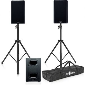 QSC K12.2 Active PA Speakers with KS212C Cardioid Subwoofer at Gear 4 Music Image