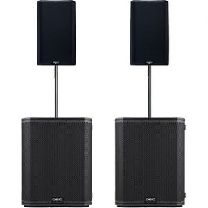 QSC K12.2 and KS118 Active Stereo PA System at Gear 4 Music Image