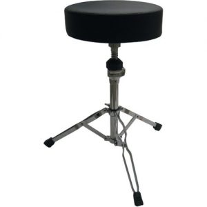Quiklok DB3V Height Adjustable Chrome Plated Drum Throne at Gear 4 Music Image