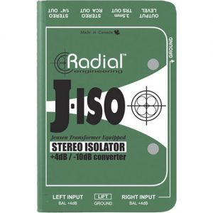 Radial J-Iso Stereo Line Level Isolator & +4dB to -10dB Converter at Gear 4 Music Image