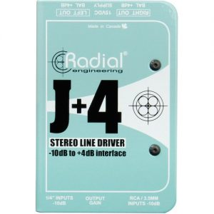 Radial J+4 Balanced -10dB to +4dB Signal Driver at Gear 4 Music Image