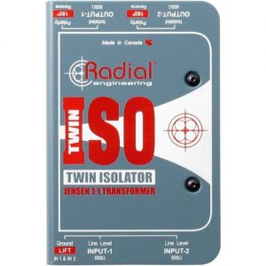 Radial Twin-Iso 2-Channel Line Level Isolator at Gear 4 Music Image