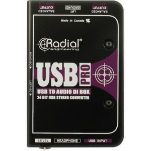 Radial USB Pro Stereo USB Laptop DI Line Isolator at Gear 4 Music Image