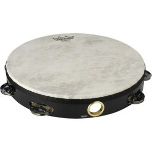 Remo 10 Single Row Pre-Tuned High Pitched Tambourine Black at Gear 4 Music Image