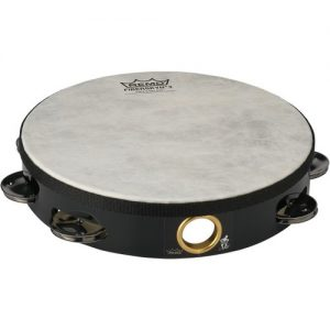 "Remo Fiberskyn Tambourine 10"" with Jingles at Gear 4 Music Image"
