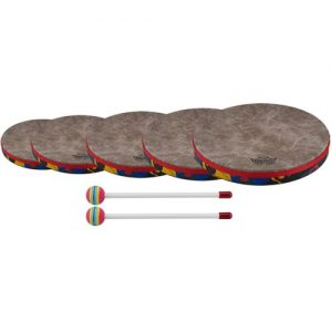 Remo Kids Hand Drums Set 6 8 10 12 and 14 at Gear 4 Music Image