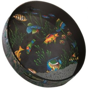 Remo Ocean Drum 22 x 2.5 Fabric Fish Finish at Gear 4 Music Image
