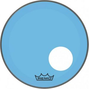 Remo Powerstroke 3 Colortone Blue 26 Ported Bass Drum Head at Gear 4 Music Image