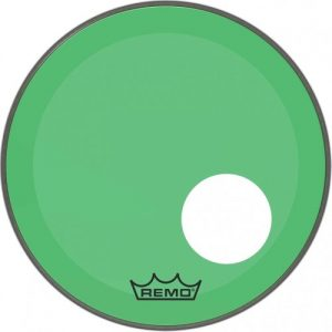 Remo Powerstroke 3 Colortone Green 26 Ported Bass Drum Head at Gear 4 Music Image