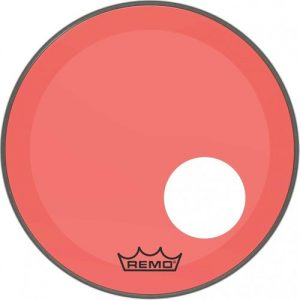 Remo Powerstroke 3 Colortone Red 26 Ported Bass Drum Head at Gear 4 Music Image