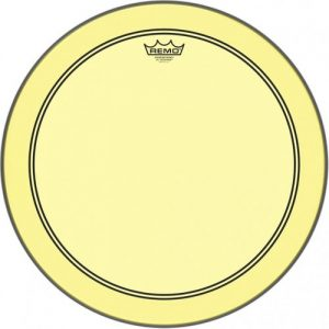 Remo Powerstroke 3 Colortone Yellow 26 Bass Drum Head at Gear 4 Music Image