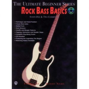 Rock Bass Basics: Steps 1 & 2 (Book/CD/DVD) at Gear 4 Music Image