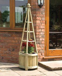 Rowlinson Marberry Obelisk Planter