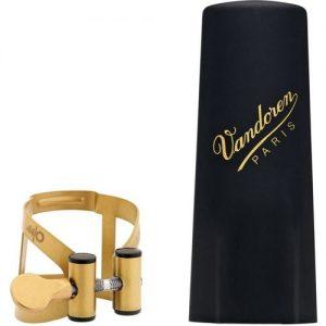 Vandoren M/O Alto Saxophone Ligature Aged Gold finish at Gear 4 Music Image