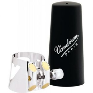 Vandoren Optimum Clarinet Ligature German Style Silver at Gear 4 Music Image
