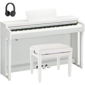 Yamaha CLP 625 Digital Piano Package Satin White at Gear 4 Music Image