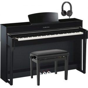 Yamaha CLP 635 Digital Piano Package Polished Ebony at Gear 4 Music Image