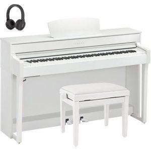 Yamaha CLP 635 Digital Piano Package Satin White at Gear 4 Music Image