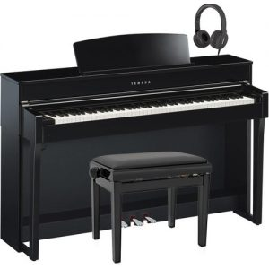 Yamaha CLP 645 Digital Piano Package Polished Ebony at Gear 4 Music Image
