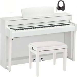Yamaha CLP 645 Digital Piano Package White at Gear 4 Music Image