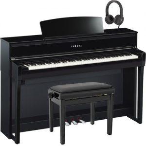 Yamaha CLP 675 Digital Piano Package Polished Ebony at Gear 4 Music Image