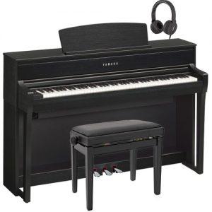 Yamaha CLP 675 Digital Piano Package Satin Black at Gear 4 Music Image