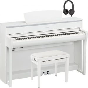 Yamaha CLP 675 Digital Piano Package White at Gear 4 Music Image