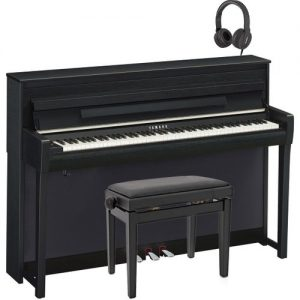 Yamaha CLP 685 Digital Piano Package Satin Black at Gear 4 Music Image