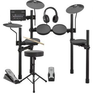 Yamaha DTX402K Electronic Drum Kit with Headphones Stool + Sticks at Gear 4 Music Image