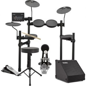 Yamaha DTX432K Electronic Drum Kit with Sticks Stool + Amp at Gear 4 Music Image