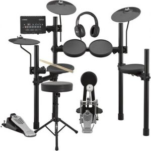 Yamaha DTX452K Electronic Drum Kit with Headphones Stool + Sticks at Gear 4 Music Image