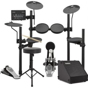 Yamaha DTX452K Electronic Drum Kit with Sticks Stool + Amp at Gear 4 Music Image