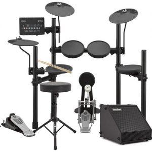Yamaha DTX452K Electronic Drum Kit with Sticks Stool + Amp at Gear 4 Music Image