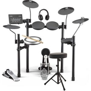 Yamaha DTX482 Electronic Drum Kit with Headphones Stool + Sticks at Gear 4 Music Image